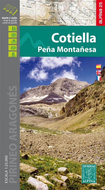 Cotiella - Pena Montanesa Map & Hiking Guide Editorial Alpina 1:25,000